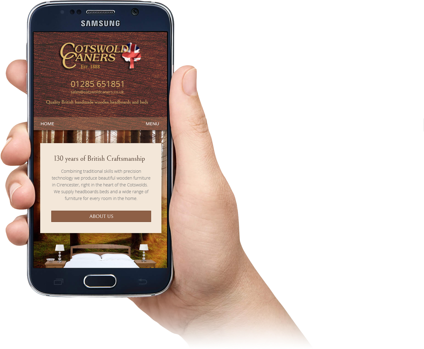 Responsive web design for Cotswold Caners