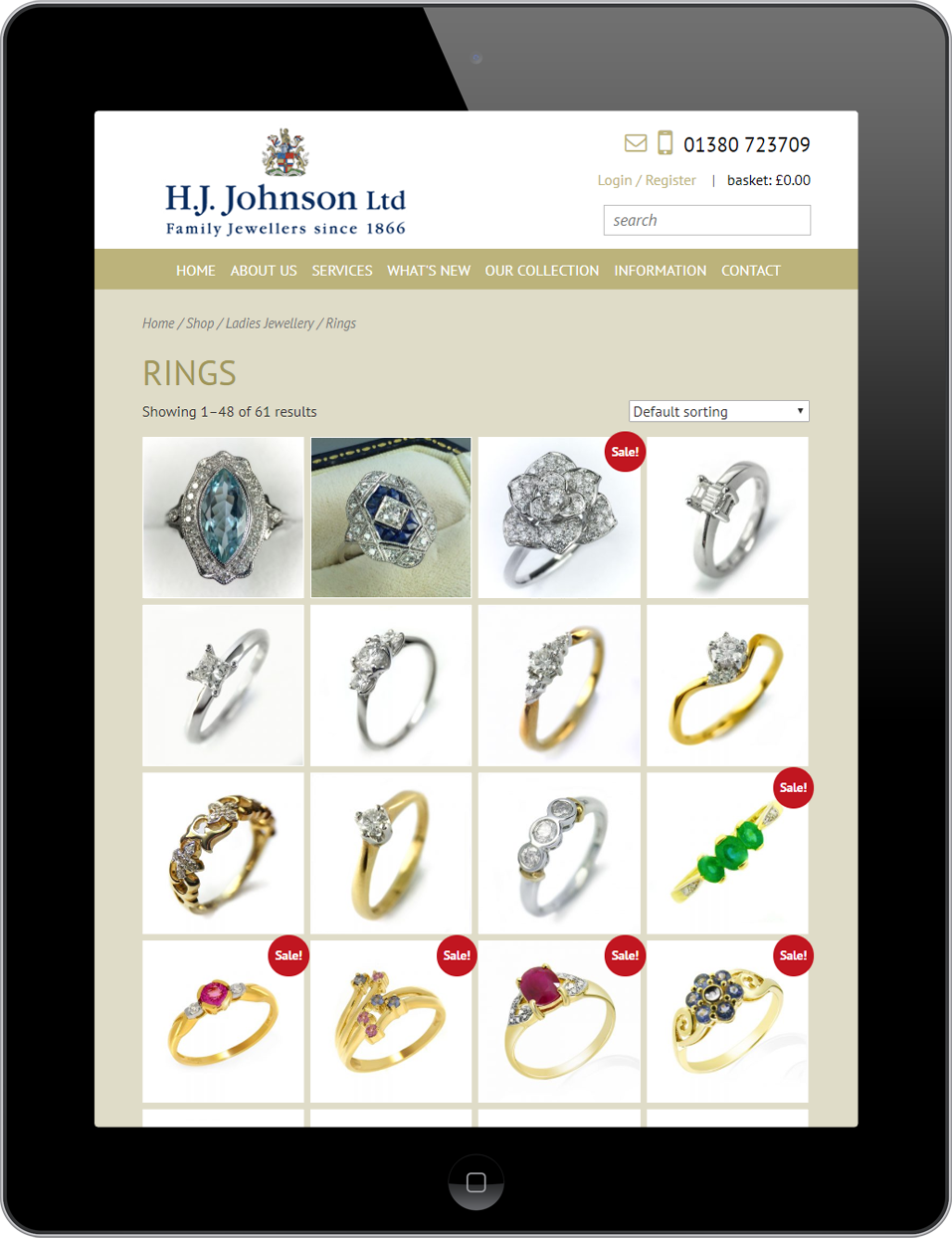 Responsive web design for H.J. Johnson