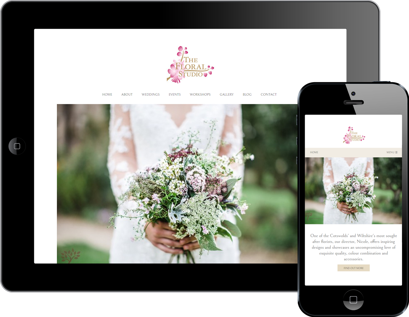 Responsive web design for The Floral Studio