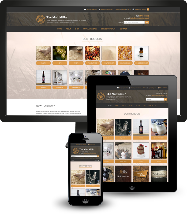 Responsive web design and development for e-commerce