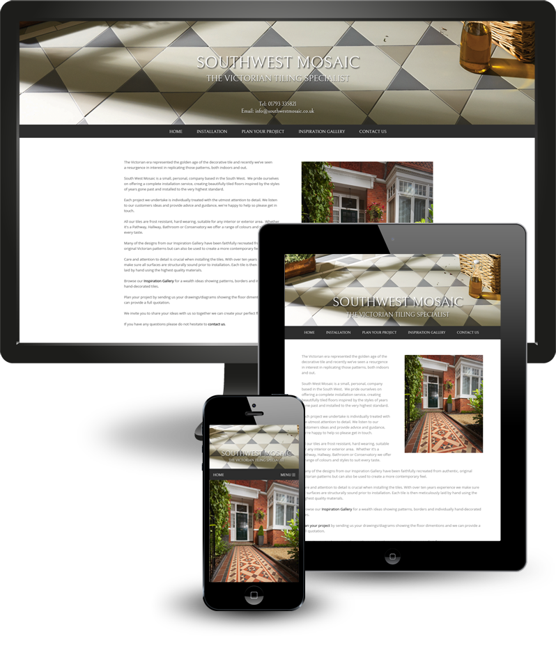 Responsive web design for Southwest Mosaic